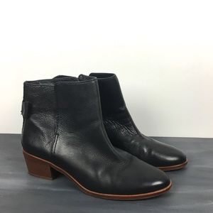 Kate Spade leather ankle boot bow